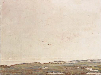 A seascape with two seagulls