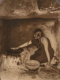The Piki Maker, Hopi, 1906