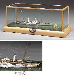 An exceptional miniature scale model of the Confederate Blockade Runner...
