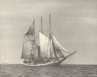The three masted schooner Fran