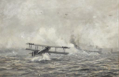 An aerial torpedo attack on a
