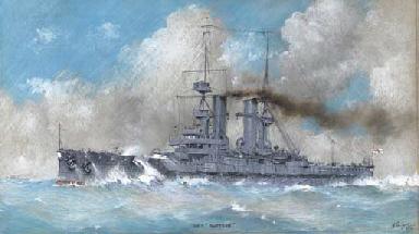 The old pre-Dreadnought battle