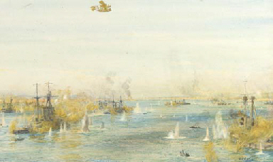 The bombardment of the Turkish