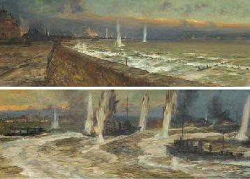 The bombardment of Lowestoft