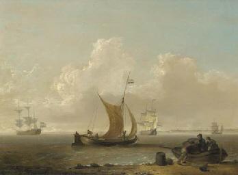 A Dutch warship and merchantme