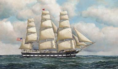 The Fidelia under full sail