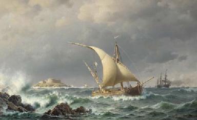 Latvian coastal craft and a pa