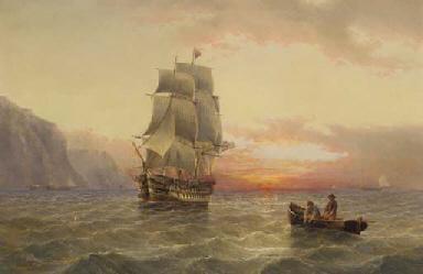A Royal Naval two-decker runni