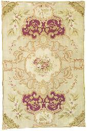 A lage antigue Aubusson carpet