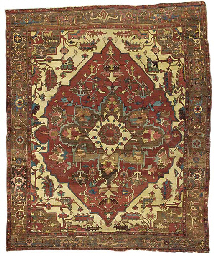 An antique Heriz carpet, North