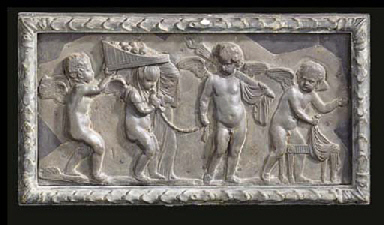 A GEORGE III LEAD FRIEZE PANEL