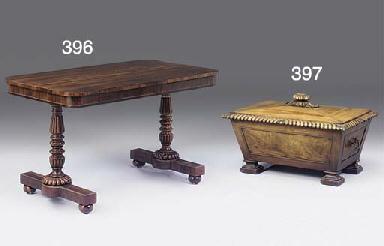 A William IV mahogany cellaret