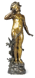 A FRENCH BRONZE FIGURE OF A NA