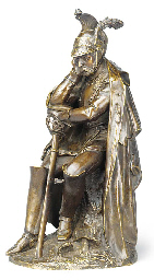 A BRONZE MODEL OF A DEFEATED F