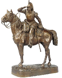 A FRENCH BRONZE GROUP OF A CAV