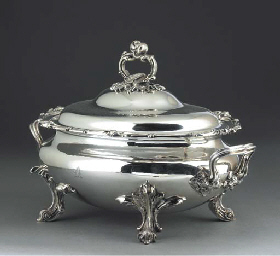 A Victorian Silver-Plated Soup