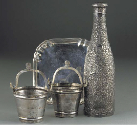 A Pair of Italian Silver Pails