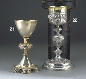 A Continental Silver Chalice