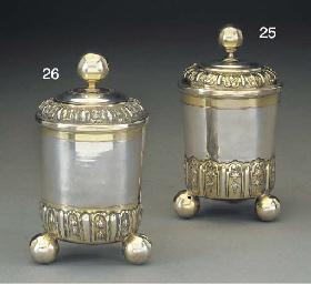A German Parcel-Gilt Silver Be