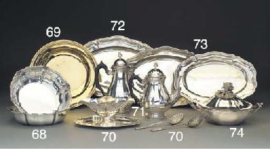 A French Silver-Gilt Dish