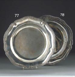 A Louis XVI Silver Dinner Plat