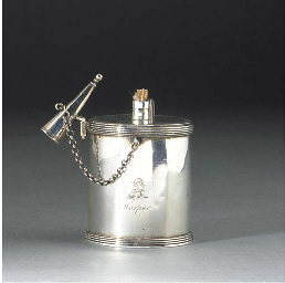 A George III Silver Bougie Box