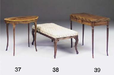 A mahogany and crossbanded ova