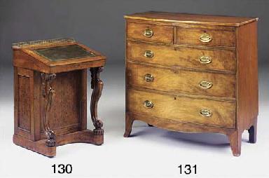 A Regency mahogany bowfront ch