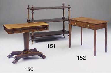 A MAHOGANY SIDE TABLE