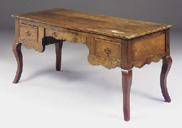 A WALNUT WRITING TABLE