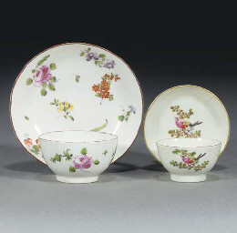 A Derby miniature teabowl and