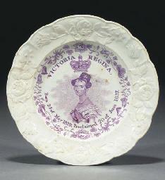 A commemorative Victorian plat