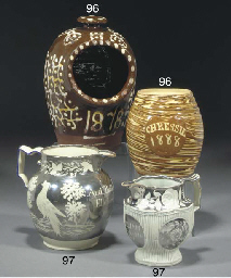 Two named and dated pearlware