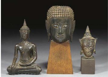 A Thai bronze figure of Buddha