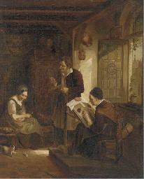 Peasants in a kitchen interior