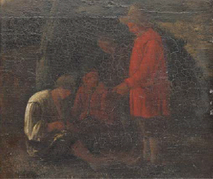Peasants in a wooded landscape