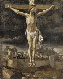 The Crucifixion, with Jerusale