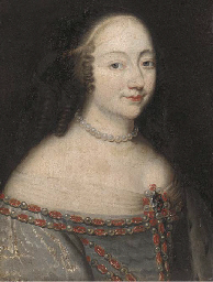 Portrait of lady, bust-length,