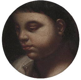 The head of a young boy