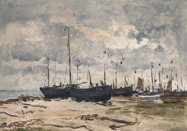 The fishing fleet on the shore