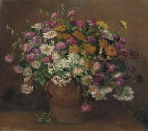 Daisies, lilac, marigolds and