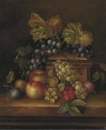 Apples, plums, peaches, gooseb