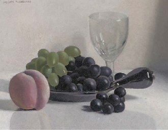 Grapes and peach