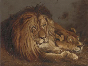 Lion and lioness; and Another