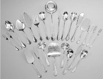 (118) A German silver flatware