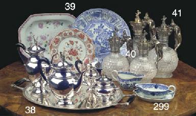 (5) A Dutch silver four-piece