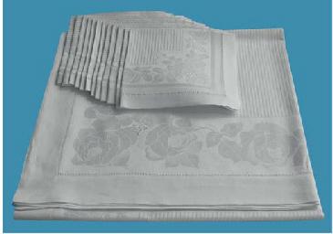 (13) A fine damask linnen tabl