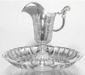 (2) A Spanish silver ewer and