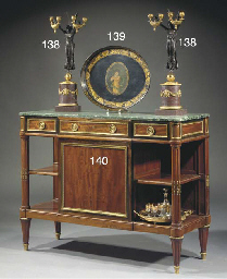 (2) A pair of ormolu and patin