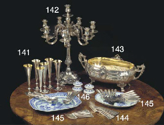 (6) A set of six Italian silve